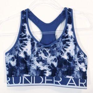 UNDER ARMOUR | tie dye workout sports bra blue m